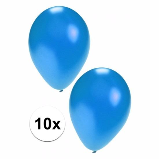 Blauwe grote ballonnen 10 stuks