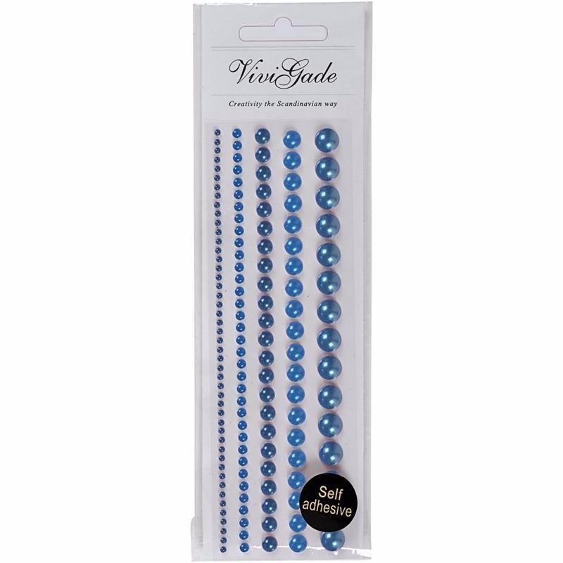 Blauwe plaksteentjes parels 140 stuks