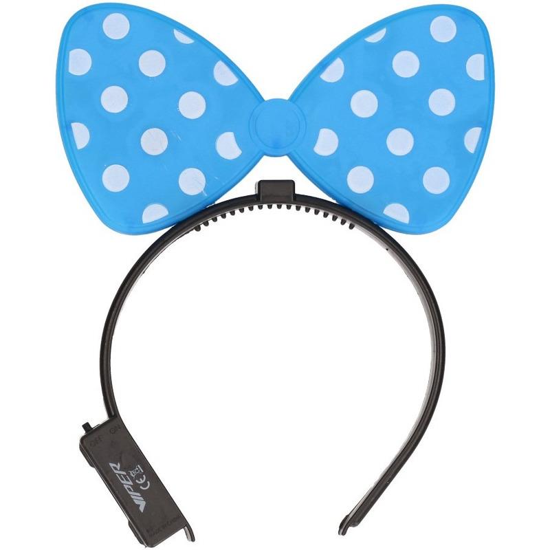 Blauwe strik haarband met verlichting