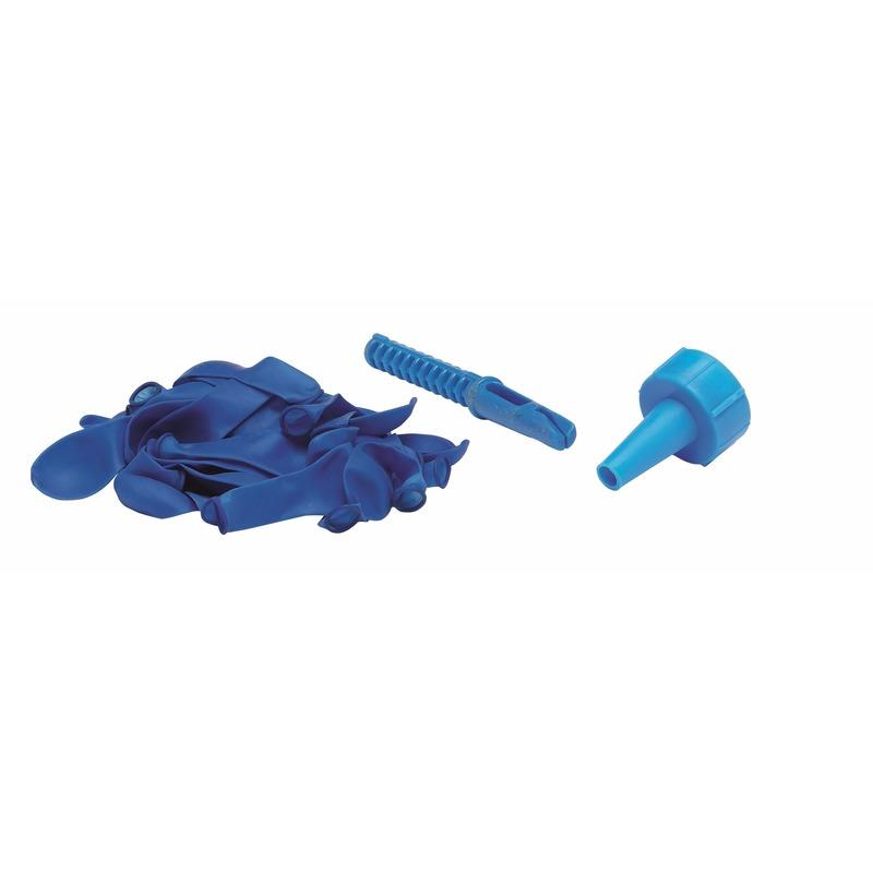 Blauwe waterbommen met kraan opzetstuk 60 stuks