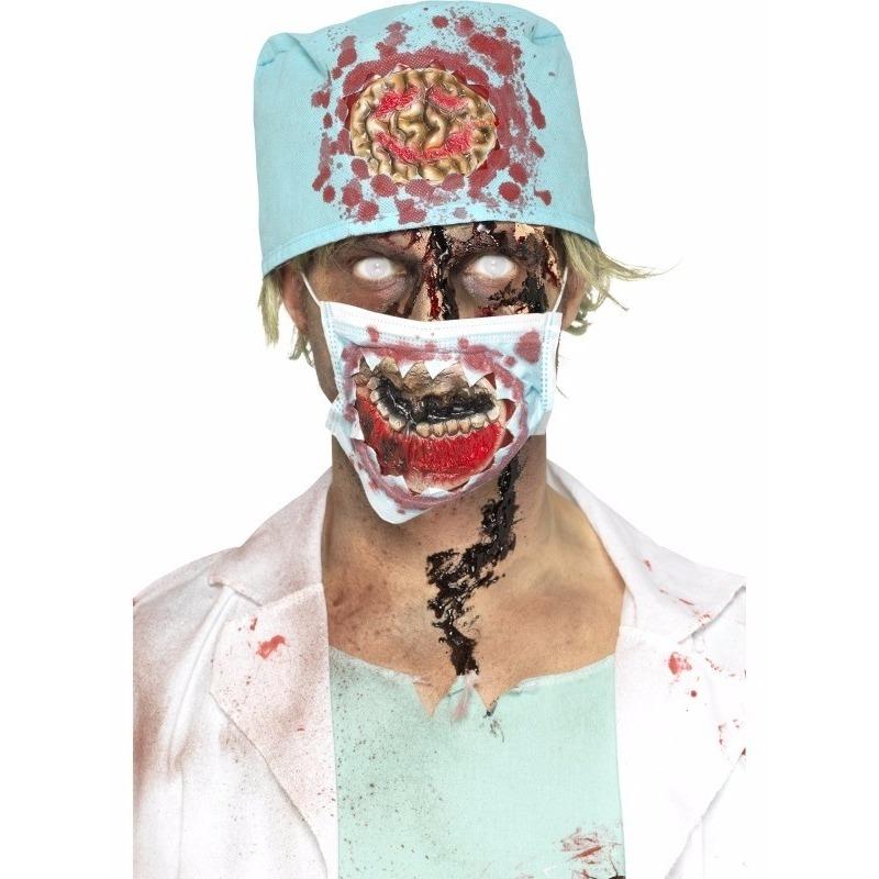 Bloederige zombie chirurg verkleed accessoires
