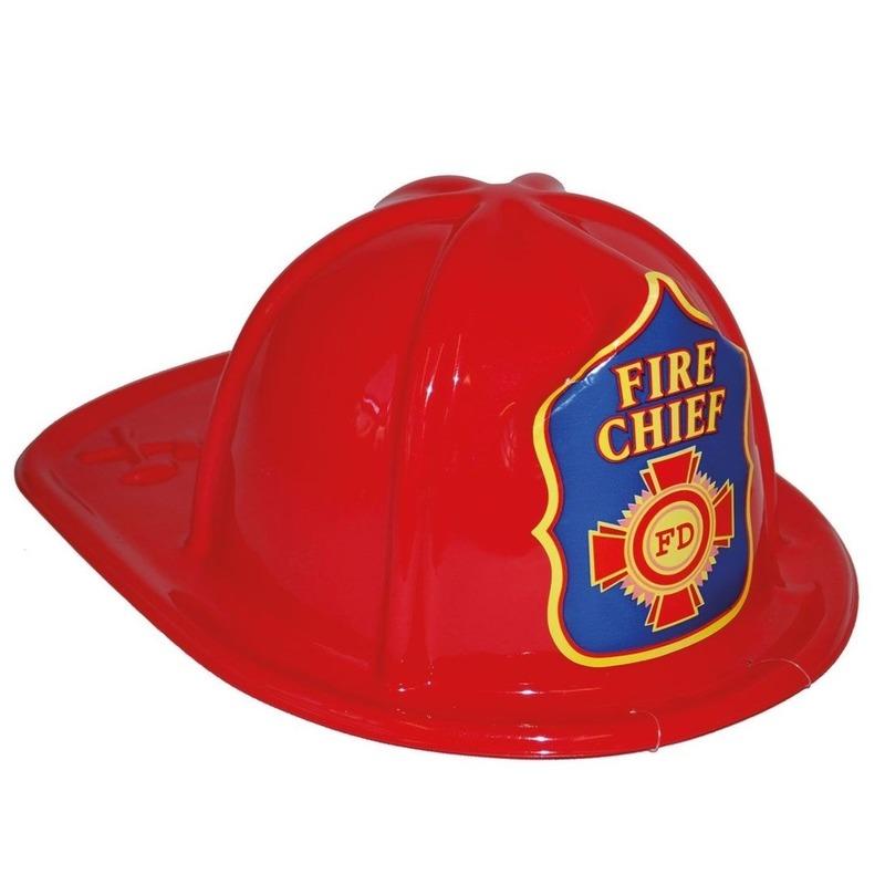 Brandweerhelm rood speelgoed verkleedaccessoire voor kinderen