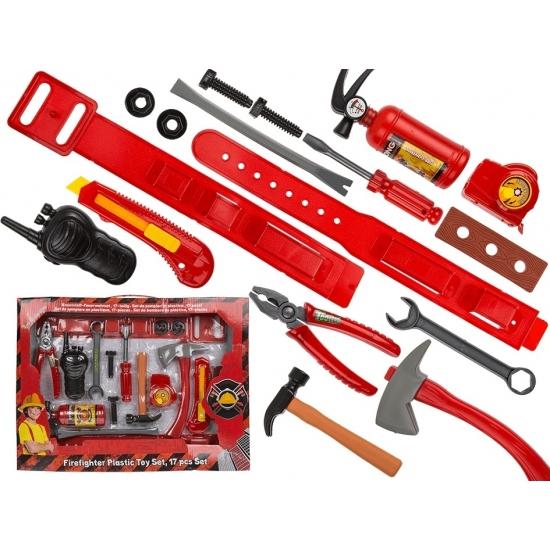 Brandweerman speelgoed set