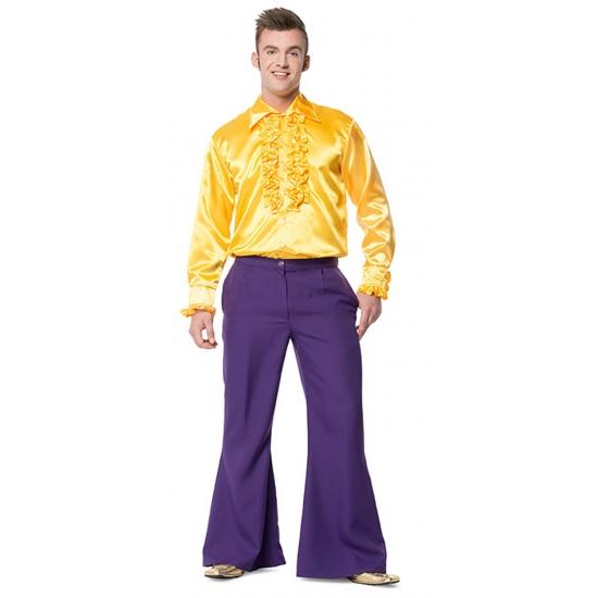 Broek in de kleur paars wijd uitlopend voor heren