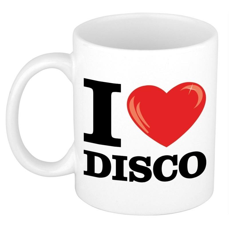 Cadeau I Love Disco muziek koffiemok - beker 300 ml