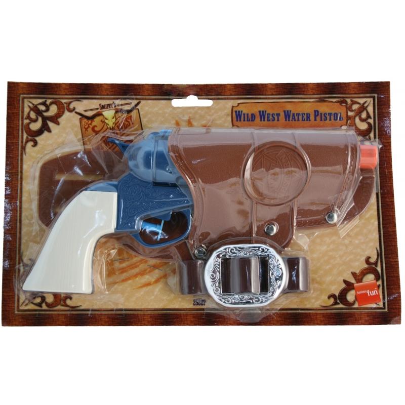 Carbaval Cowboy pistool blauw