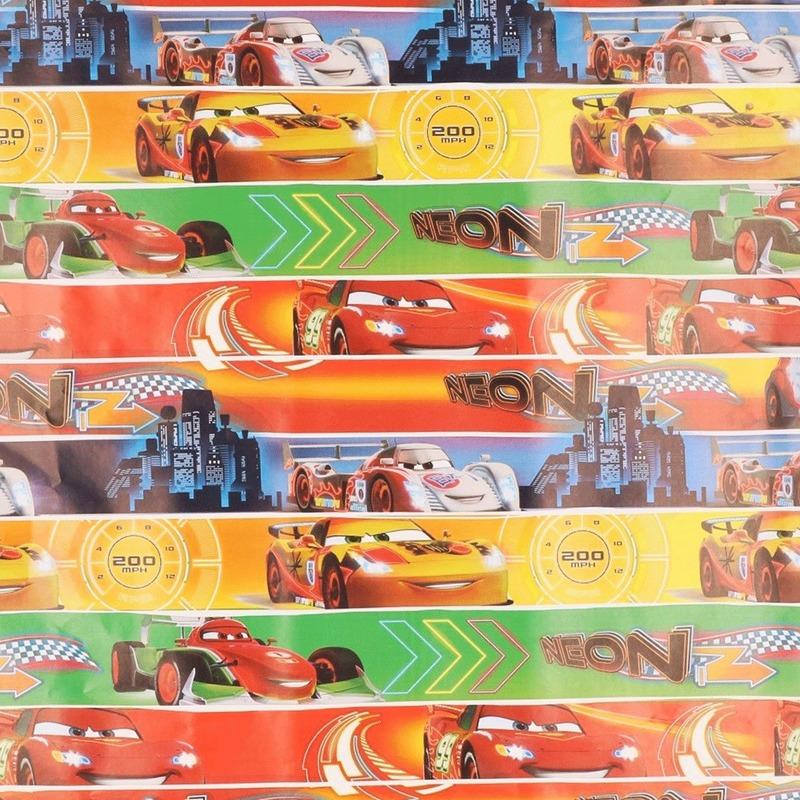 Cars geschenkpapier gekleurd