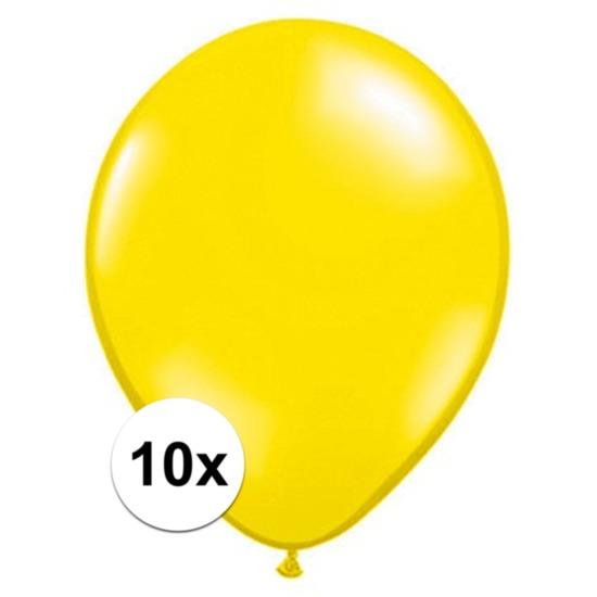 Citroen gele Qualatex ballonnen 10 stuks