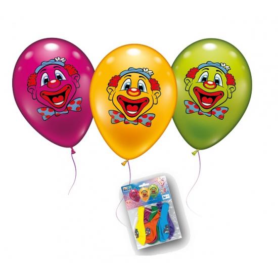 Clowns gezicht ballonnen 6 stuks