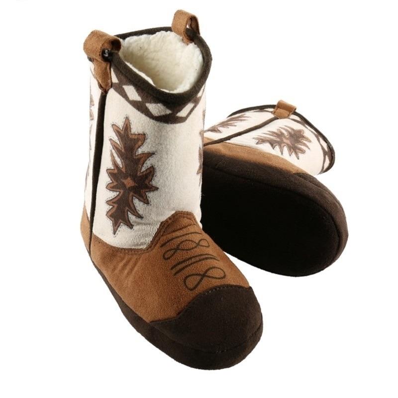 Cowboy pantoffels bruin voor kinderen