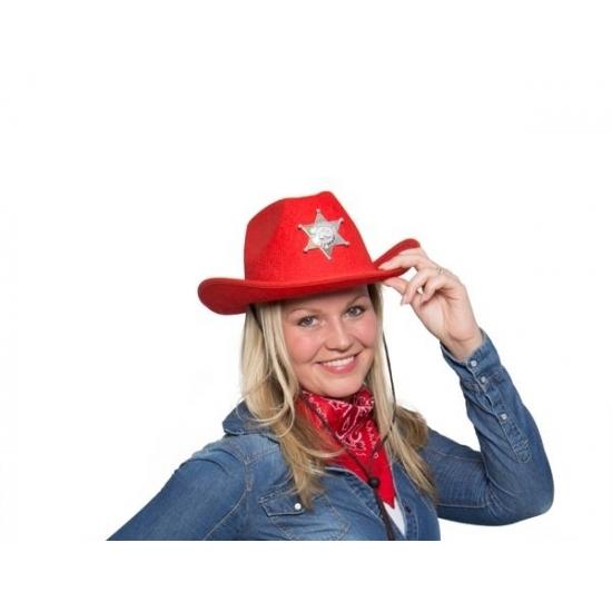 Cowboyhoed rood met verlichting