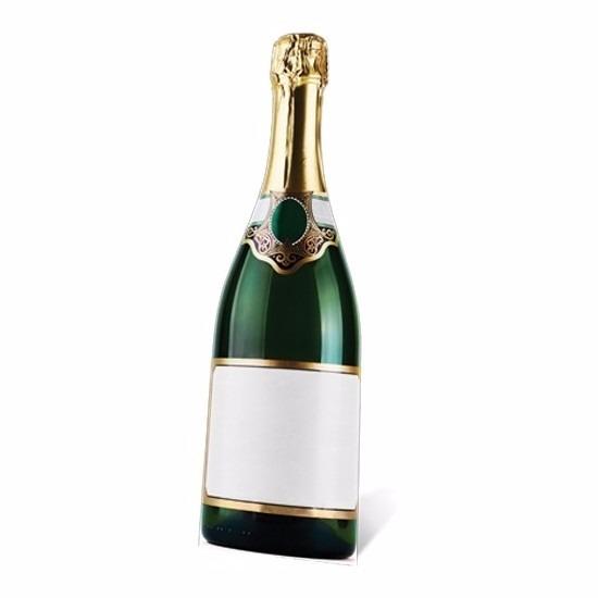 Cut-out van een Champagne fles