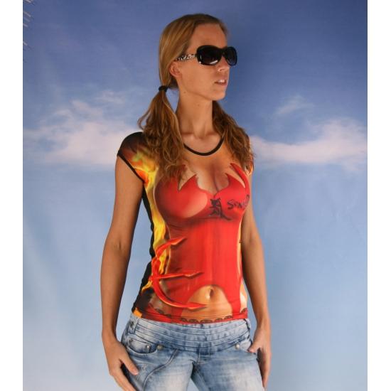Dames t-shirt met duivel print