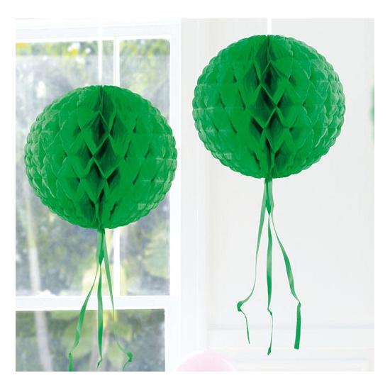 Decoratie bollen donker groen 30 cm