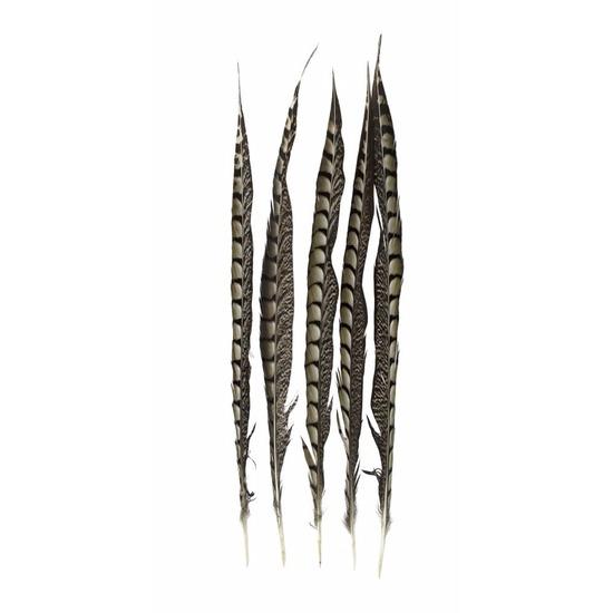 Decoratie fazant veren 50 cm 5 stuks