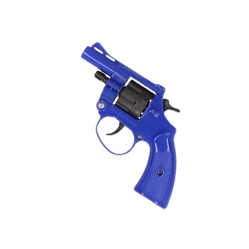 Detective revolver blauw
