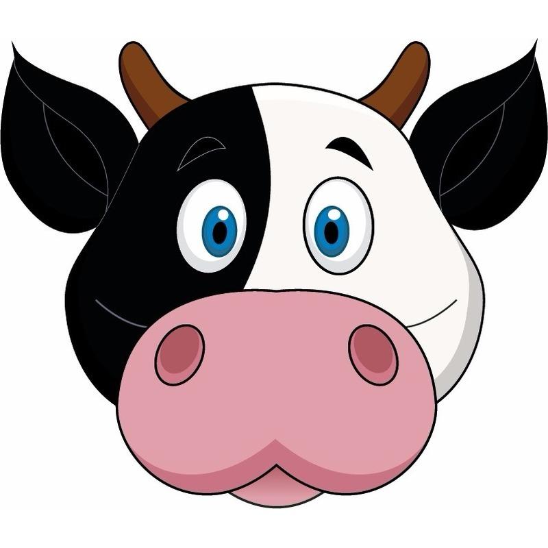 Dieren masker koe voor kids