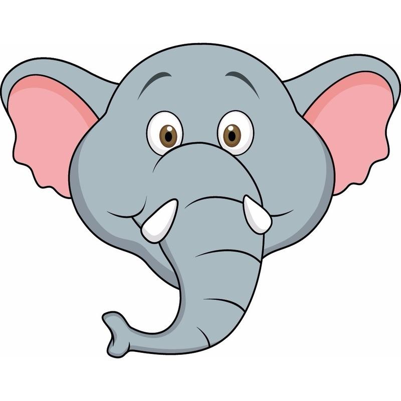 Dieren masker olifant voor kids