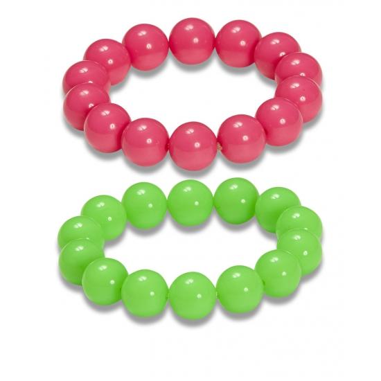 Disco armbanden neon kleur