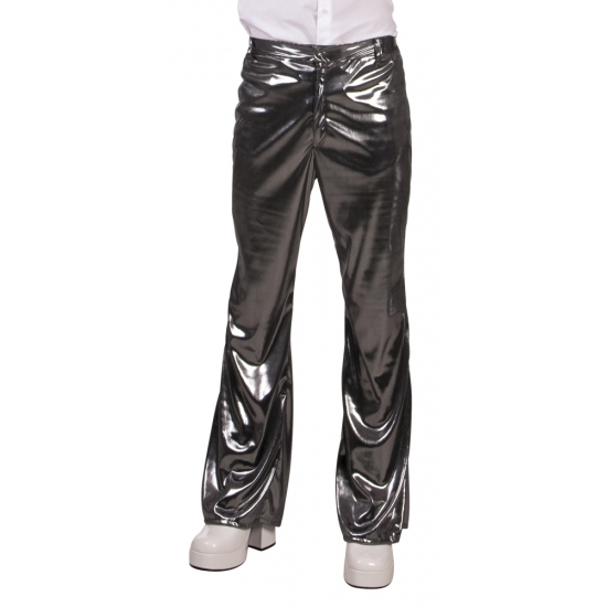 Disco broek zilver voor heren