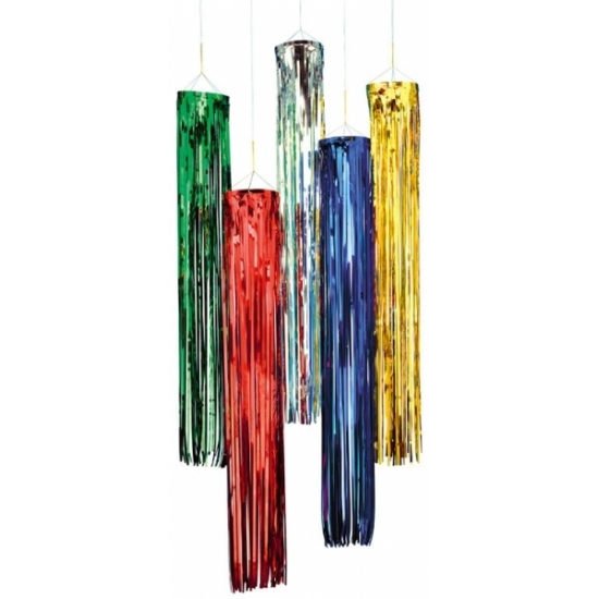 Disco decoratie hanger rood