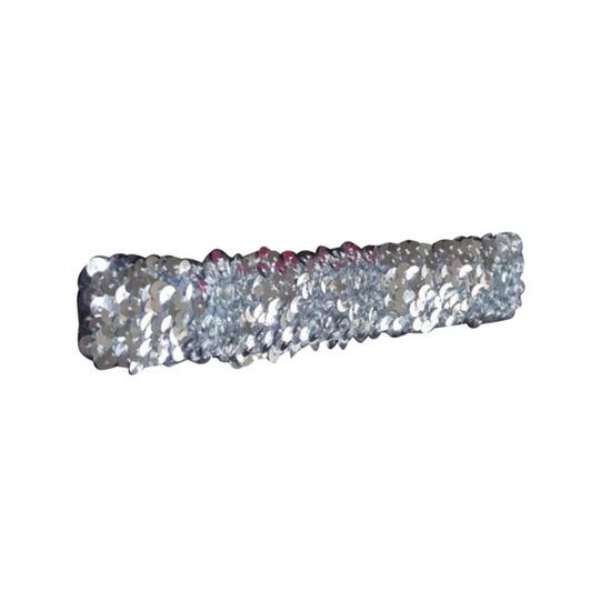 Disco haarband met zilveren pailletten