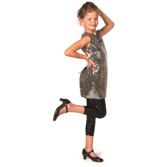 Disco jurkje zilver meiden