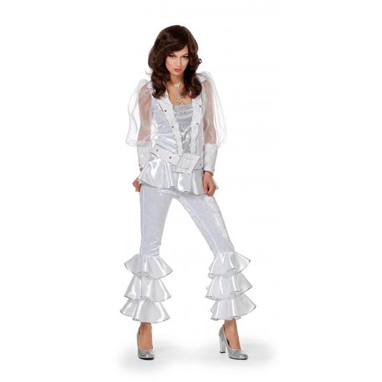 Disco outfit wit met zilver