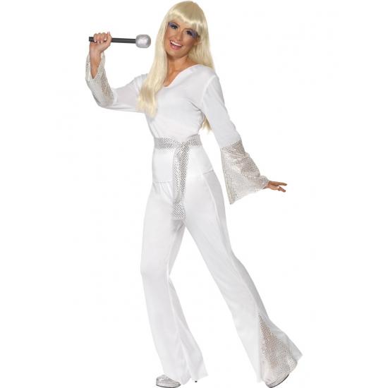 Disco pak voor dames in het wit