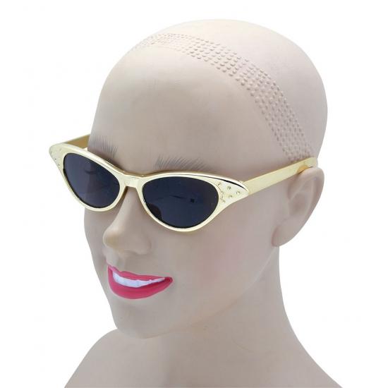 Disco verkleed bril goud voor volwassenen