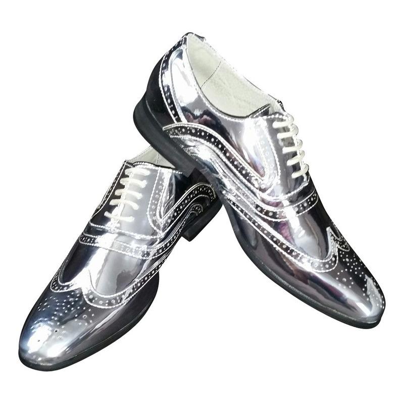 Disco veterschoenen zilver voor heren