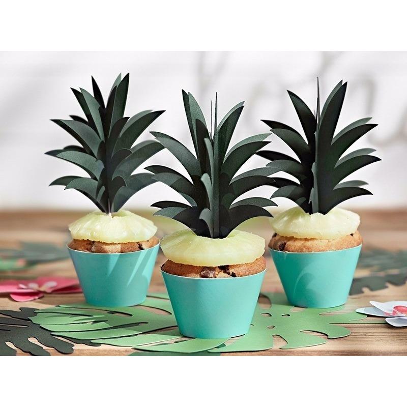DIY knutsel ananas bladeren prikkers 6 stuks