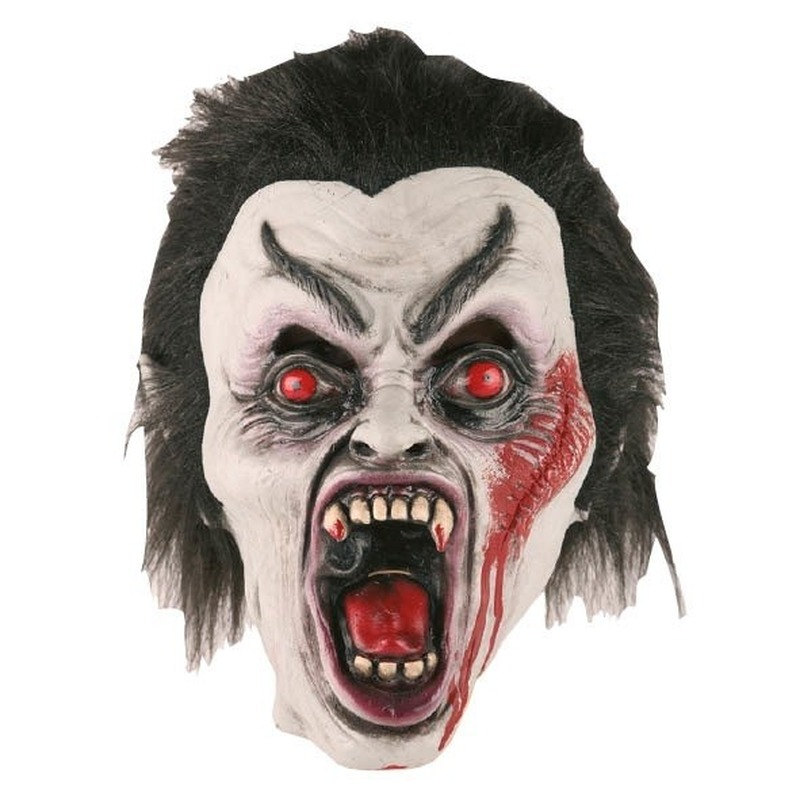 Dracula horror/halloween masker van latex