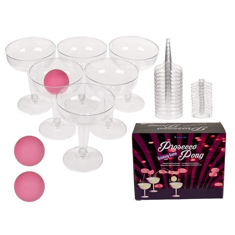 Drinkspel prosecco wijn pong