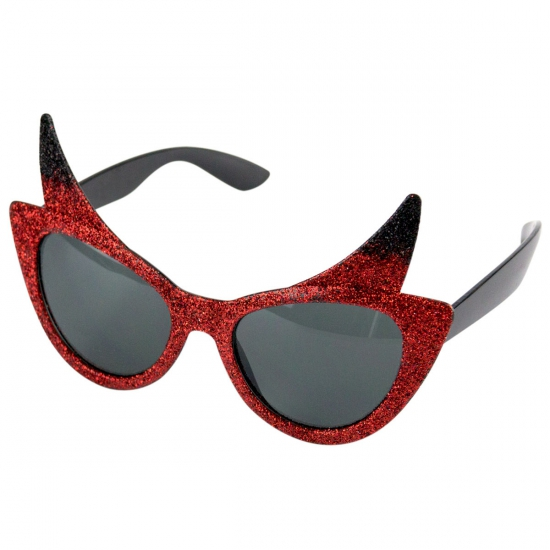 Duivel feestbril met hoorntjes