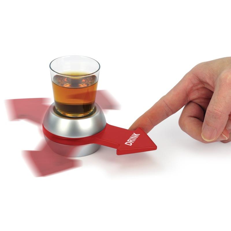 Feest drankspelletje/drinkspelletje Spin the Shot/Draai de Pijl
