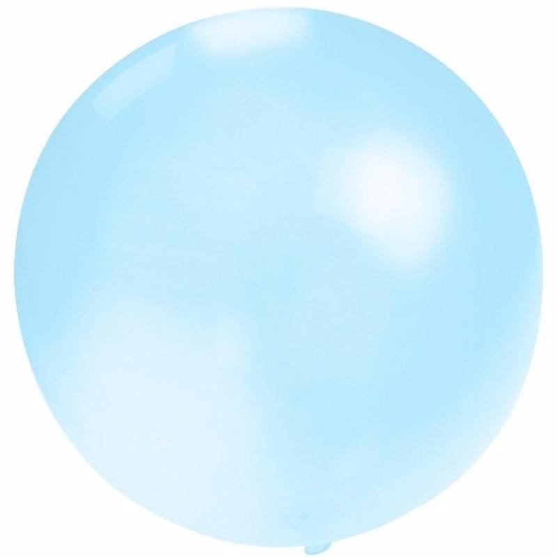 Feest mega ballon baby blauw 60 cm