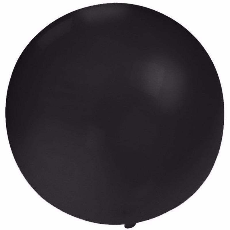 Feest mega ballon zwart 60 cm