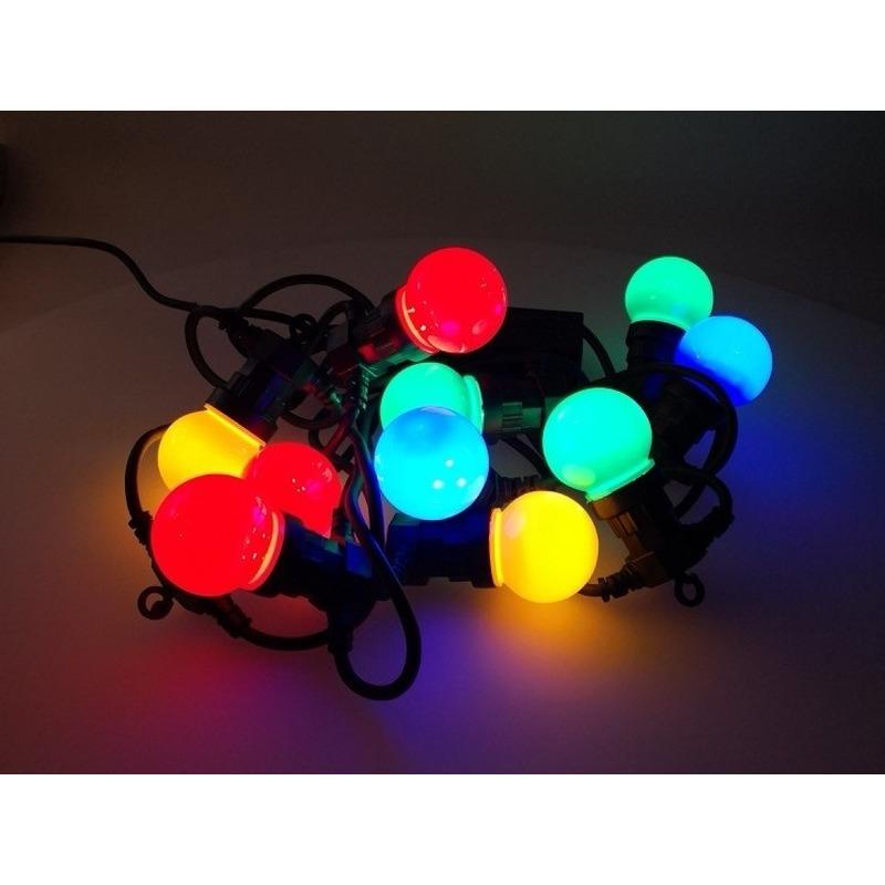 Feest verlichting 10 gekleurde bollampjes