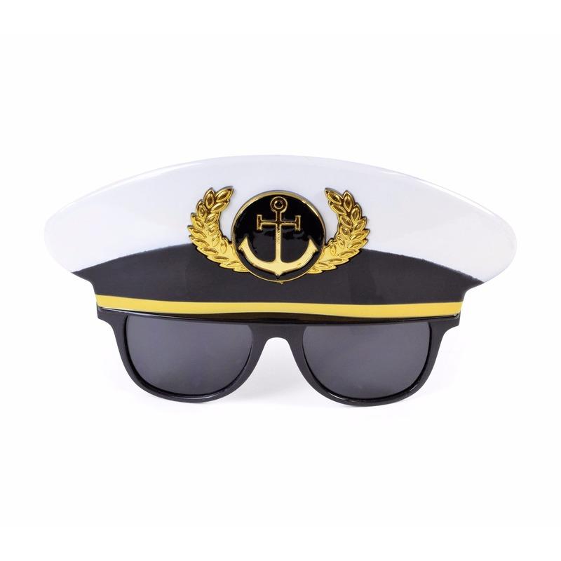 Feestbril kapitein voor volwassenen