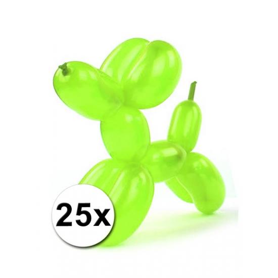 Figuurballonnen neon gekleurd 25 stuks