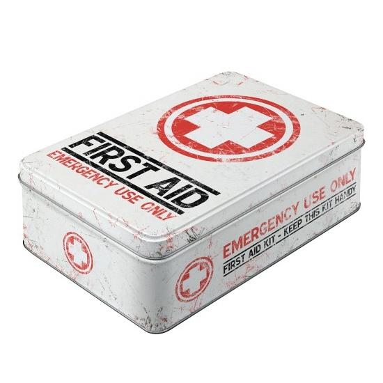 First aid bewaarblik plat 23 cm