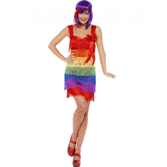 flapper regenboog jurkjes