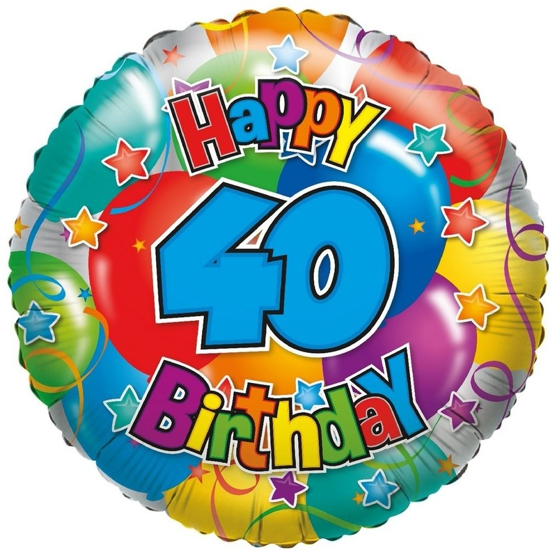 Folie ballon 40 Happy Birthday 35 cm