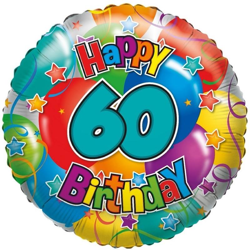 Folie ballon 60 Happy Birthday 35 cm