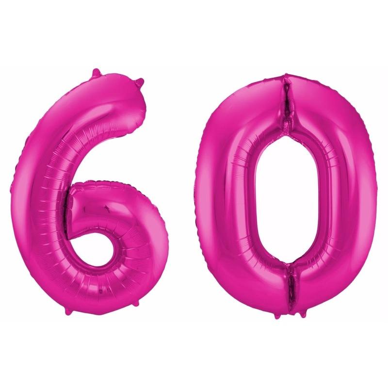 Folie ballon 60 jaar 86 cm