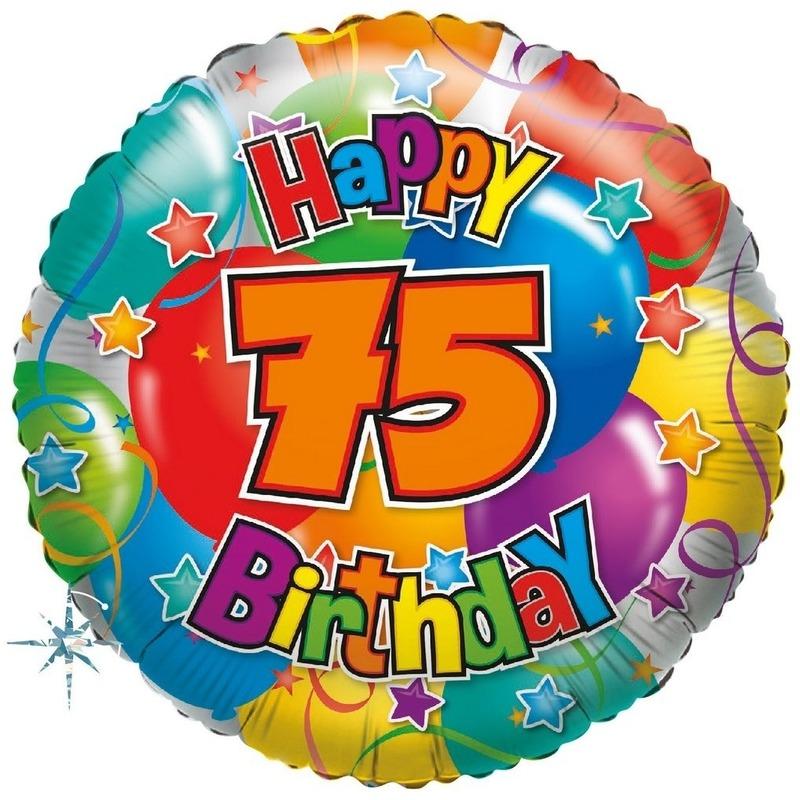 Folie ballon 75 Happy Birthday 35 cm