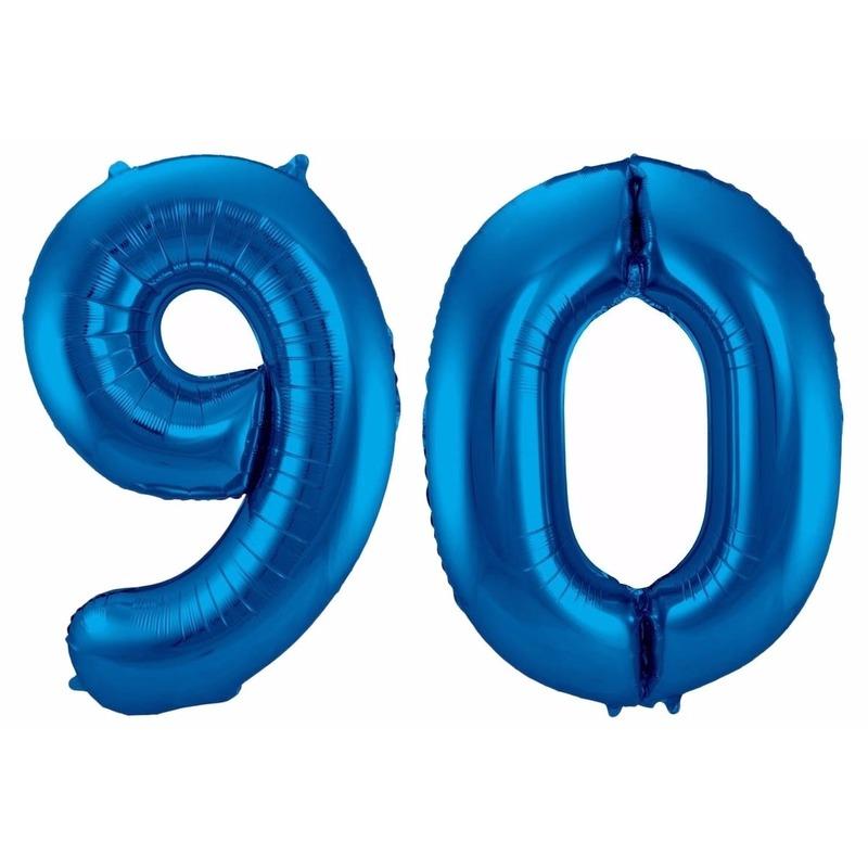Folie ballon 90 jaar 86 cm