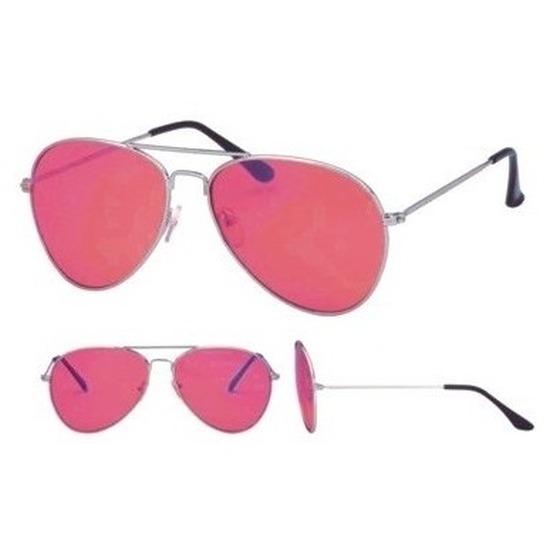 Fopbril met roze glazen voor volwassenen