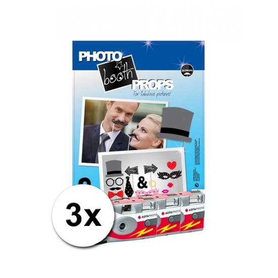 Foto booth props voor een bruiloft incl 3x wegwerp camera